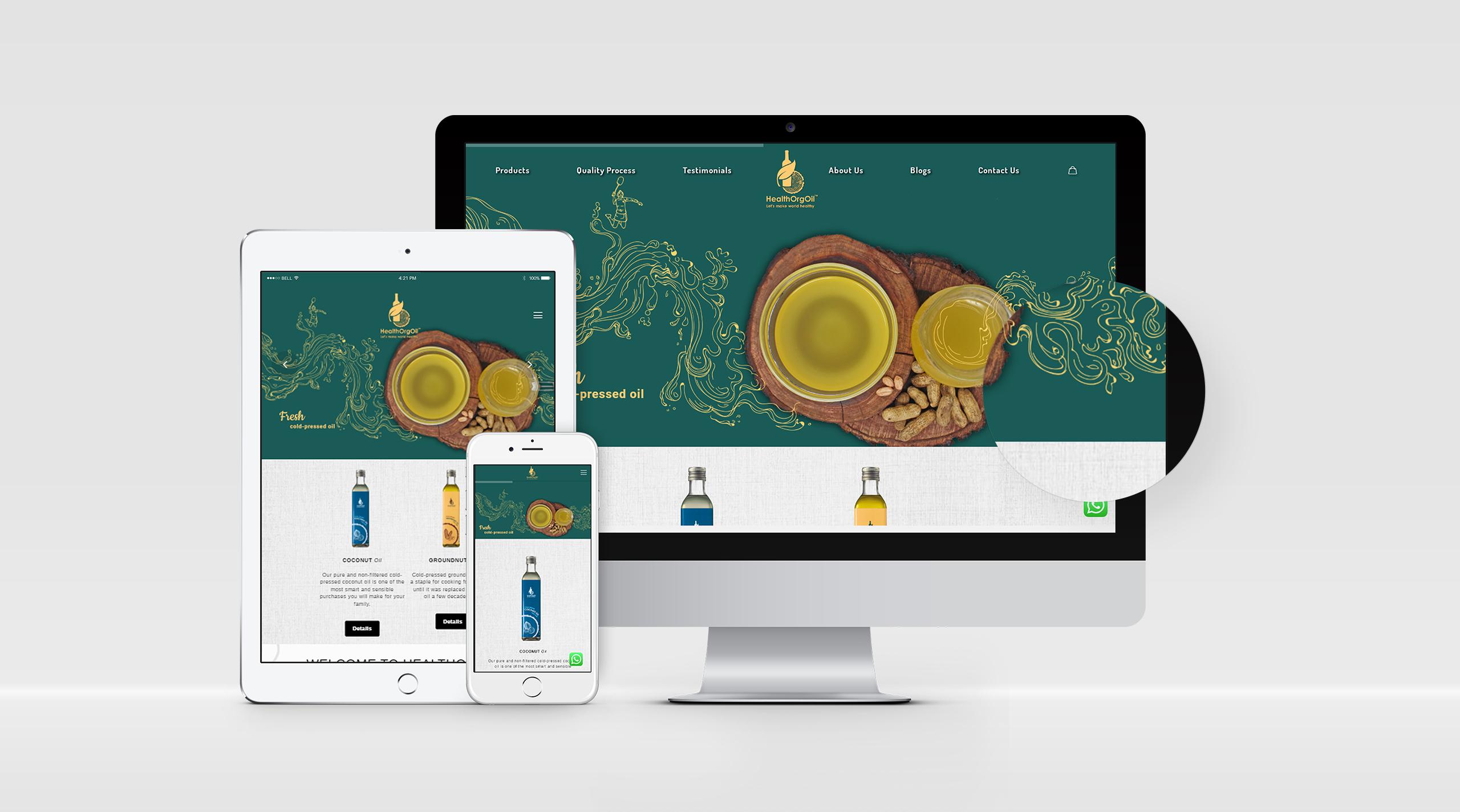 HealthOrgOil Responsive Website Design Pune