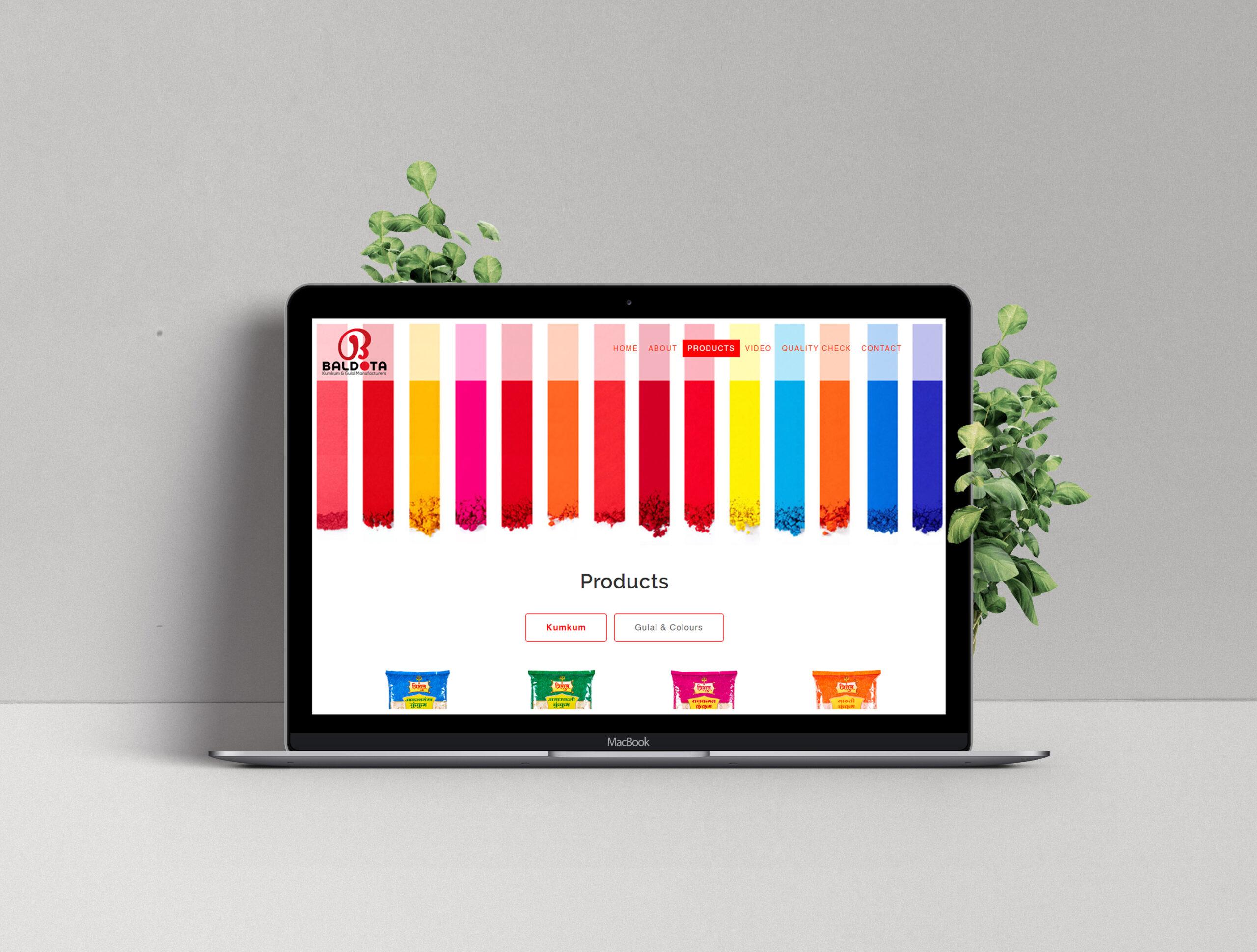 Baldota Website Design