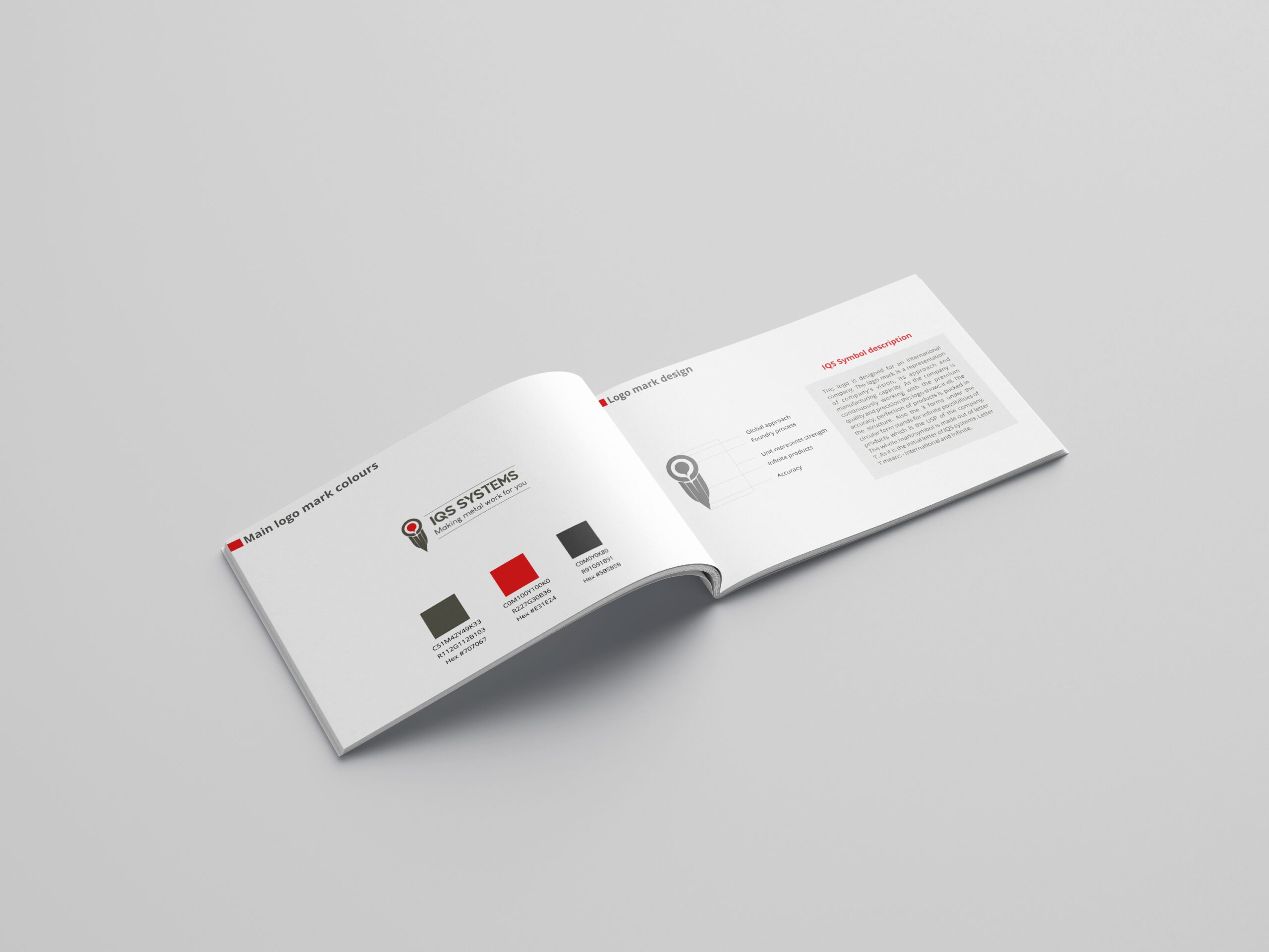 IQS Systems brand manual design by WDSOFT