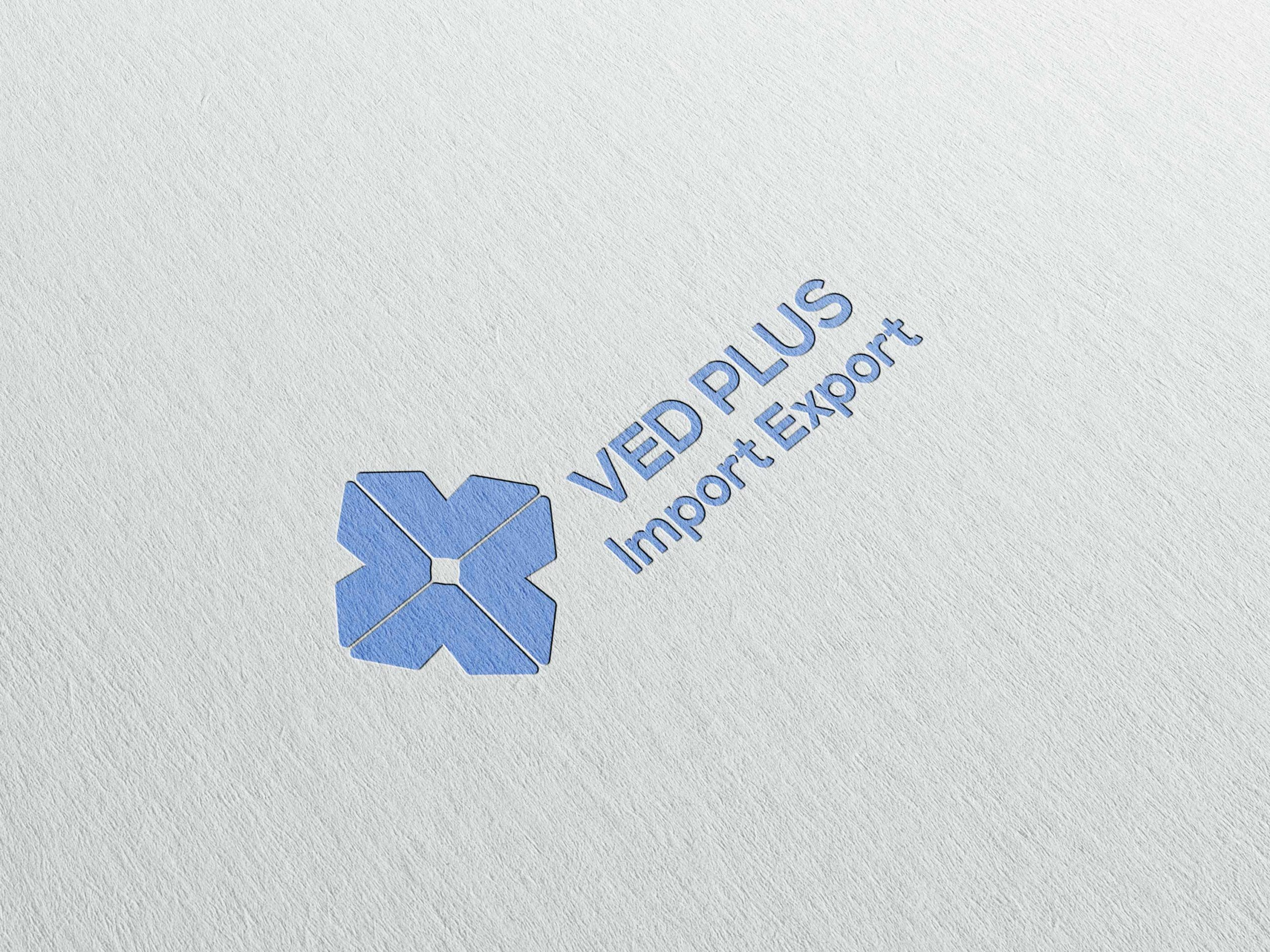 Ved Plus Impex Logo Design by WDSOFT
